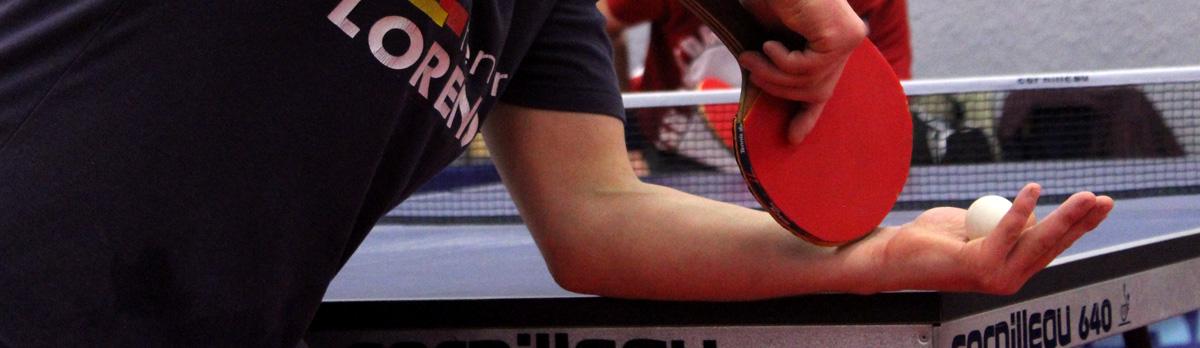 joueur de ping pong